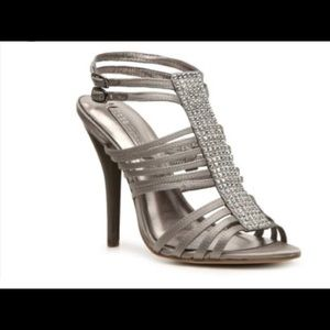 BCBG Max Azria strappy studded high heels